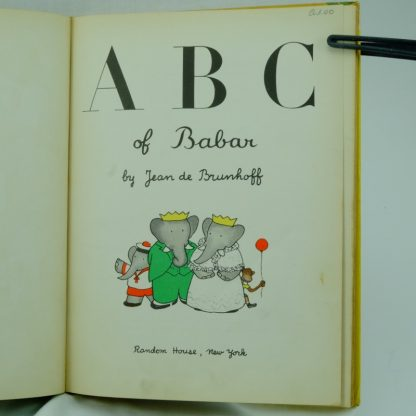 A.B.C-of-Babar-by-Jean-De-Brunhoff first edition