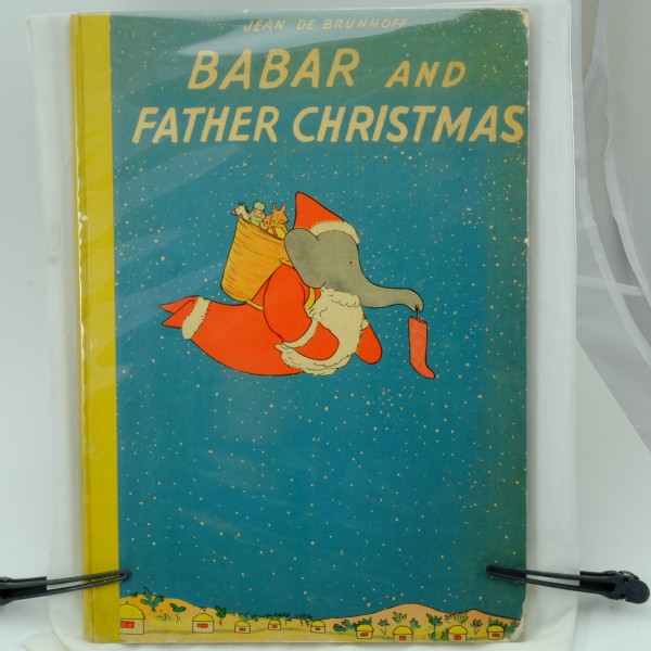 Babar-and-Christmas-Jean-de-Brunhoff-first-edition