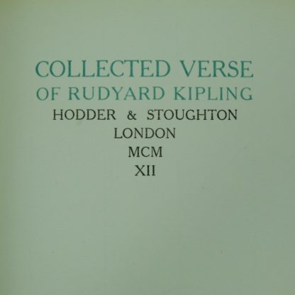 Collected verse of Rudyard Kipling Limited edition