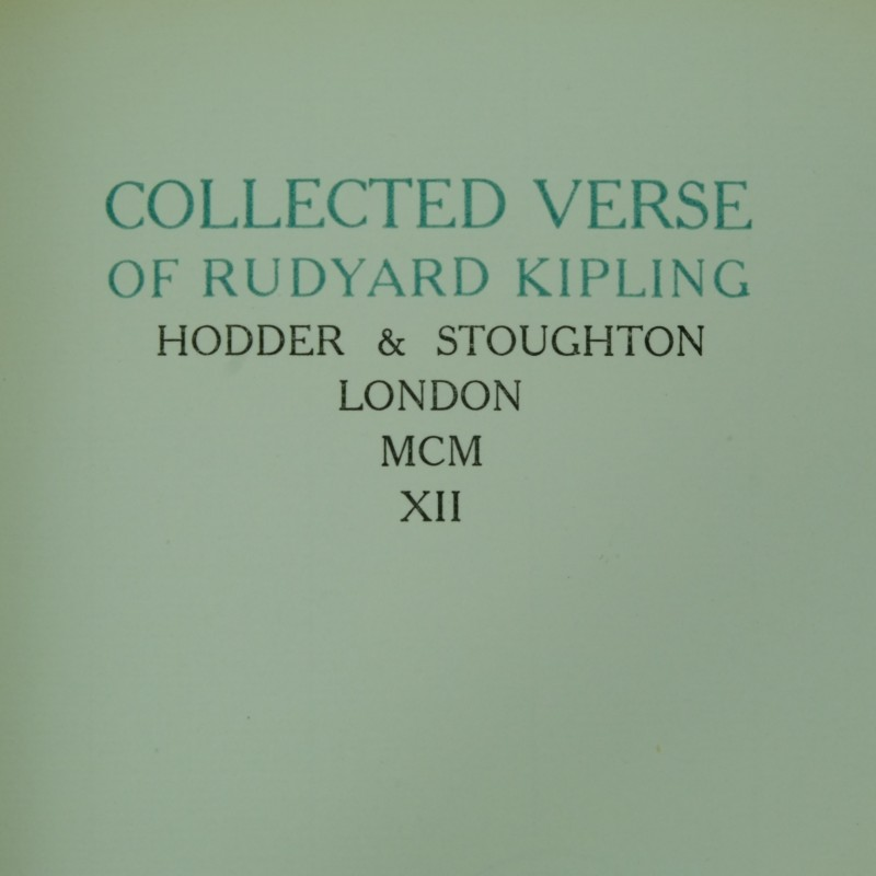rudyard kipling archives rare and antique books collected verse of rudyard kipling limited edition