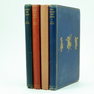 The-House-at-Pooh-Corner-When-we-were-very-young-Now-we-are-six-Winnie-the-Pooh-A.A.Milne-1st-edition