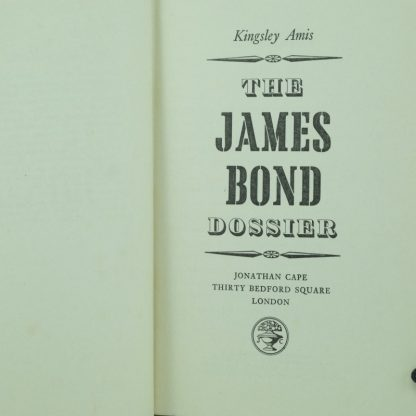 The-James-Bond-Dossier-Kingsley-Amis-First-Edition