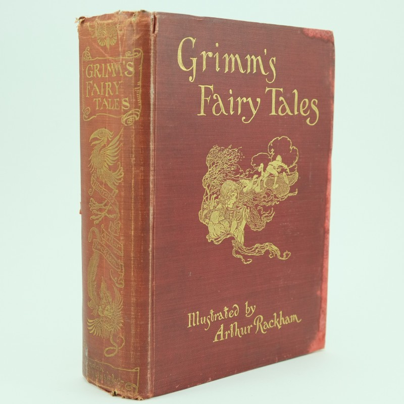 First Illustrated Book Cover : Grimms fairy tales first edition illustrated by a rackham