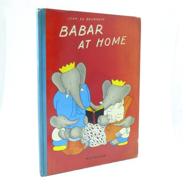 Babar-at-Home-Jean-De-Brunhoff-First-Edition-Methuen