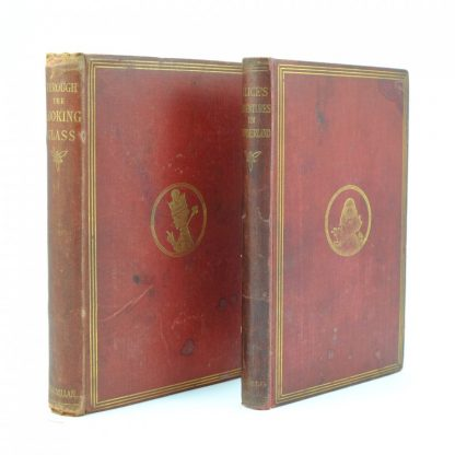 Paired-Alice-In-Wonderland-Through-the-Looking-Glass-Lewis-Carroll-First-Edition-Macmillan (2)