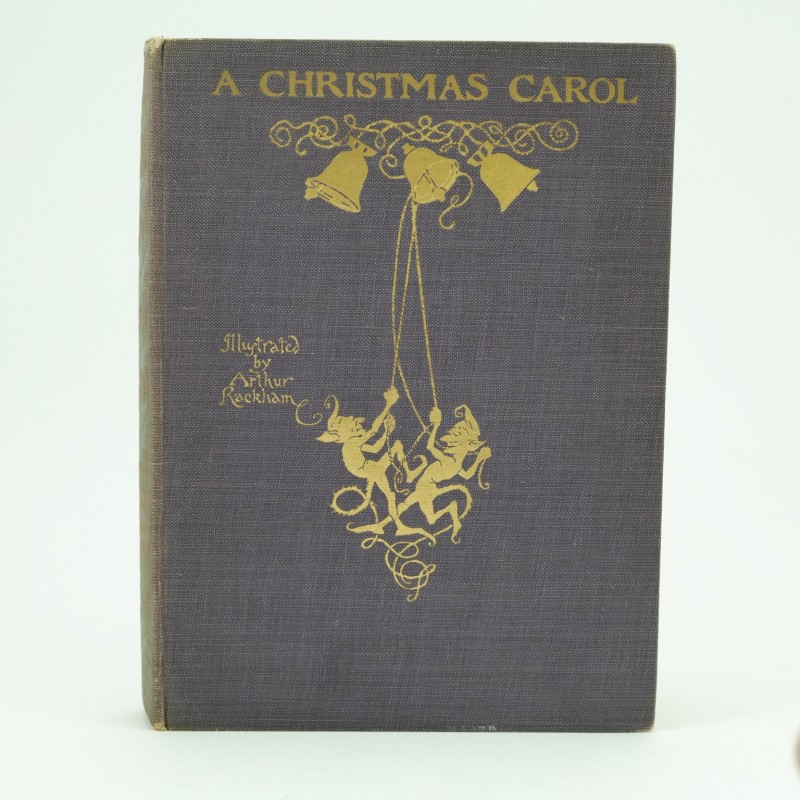 A Christmas Carol Book Cover.A Christmas Carol Illustrated By Arthur Rackham Rare First Edition With Jacket