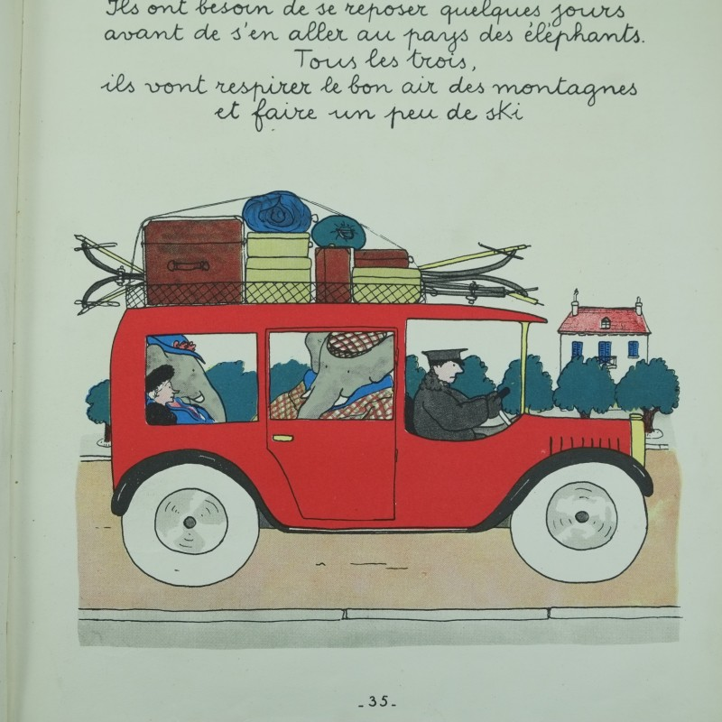 Top Le Voyage de Babar by Jean de Brunhoff: first Swiss edition | Rare  RU18