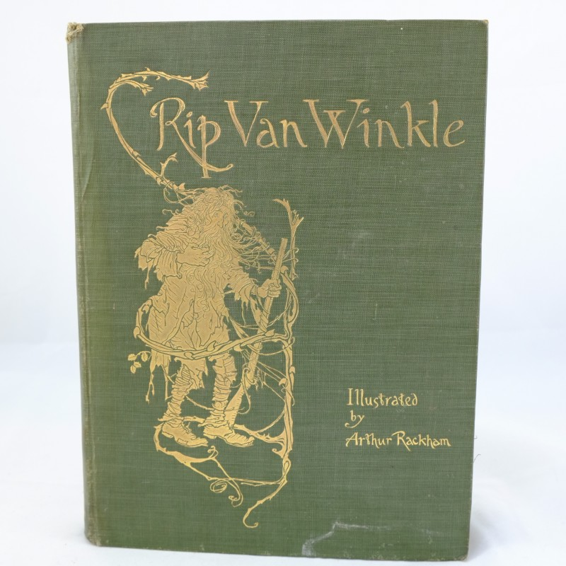 First Illustrated Book Cover ~ Rip van winkle first edition illustrated by arthur