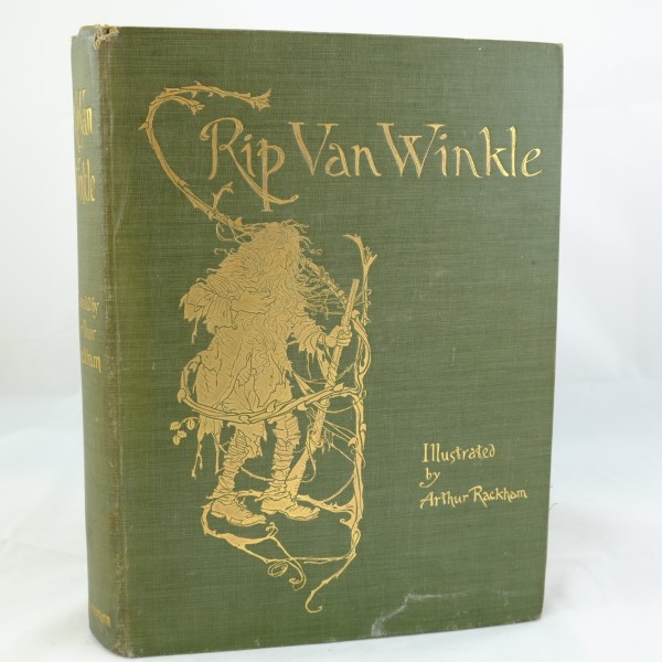 First Illustrated Book Cover : Rip van winkle first edition illustrated by arthur