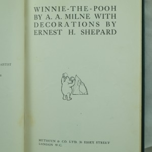 Winnie the Pooh, First Edition by A. A. Milne