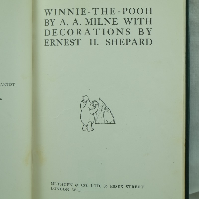 Winnie The Pooh First Edition By A Milne