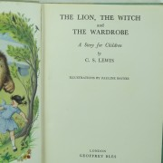 The Lion the Witch and the Wardrobe by C. S. Lewis First Edition