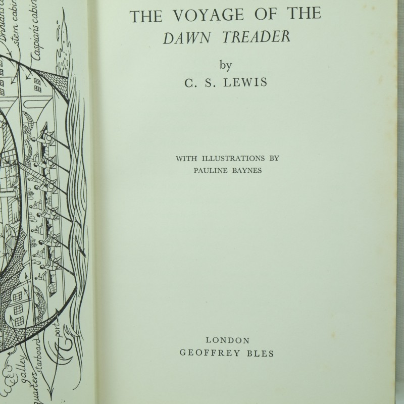 an analysis of the voyage of the dawn treader by c s lewis The narration of the voyage of the dawn treader, like that of the lion, the witch, and the wardrobe, is a curious mixture of a third-person omniscient feel with a first-person narrator occasionally.