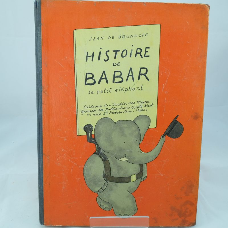 Top Histoire de Babar by Jean de Brunhoff - rare original first  RU18