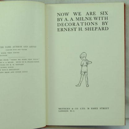 Now We Are Six Deluxe first edition. A. A Milne