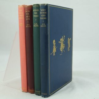Set of A.A. Milne Pooh Books first editions