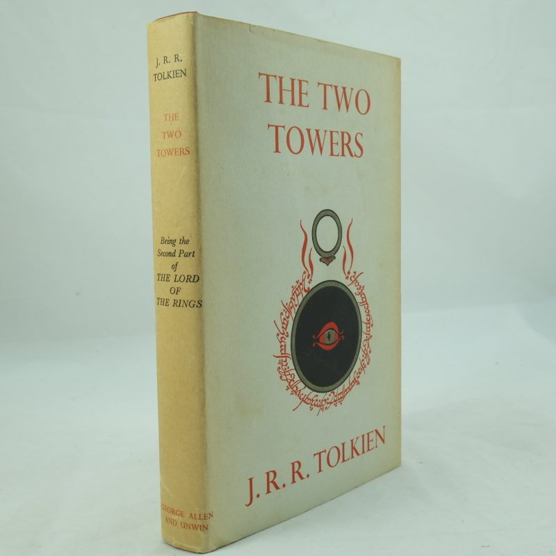 THE TWO TOWERS J R R Tolkien 1st Edition 1/1 1954 DW Lord of the Rings SUPERB
