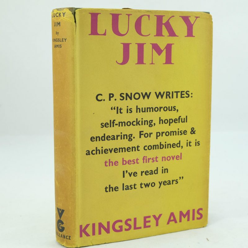 lucky jim Allen was reviewing kingsley amis's first book, lucky jim, whose admirers are  celebrating its 50th birthday the hero of that comic novel, jim.