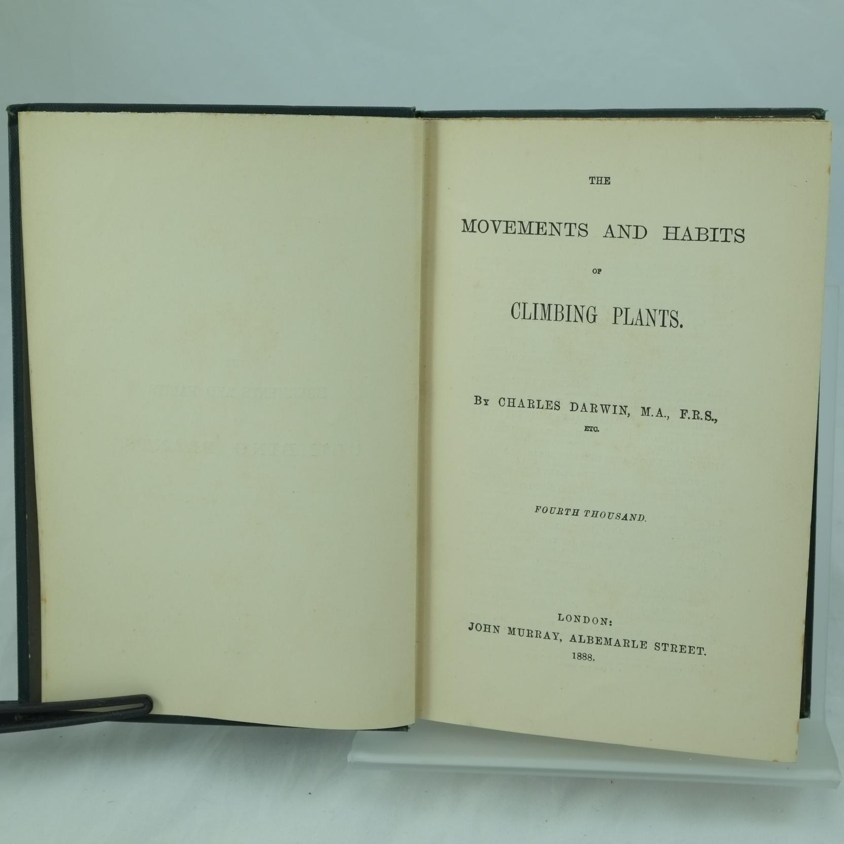 climbing plants by charles darwin rare and antique books climbing plants by charles darwin