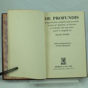 Limited & Signed De Profundis by Oscar Wilde