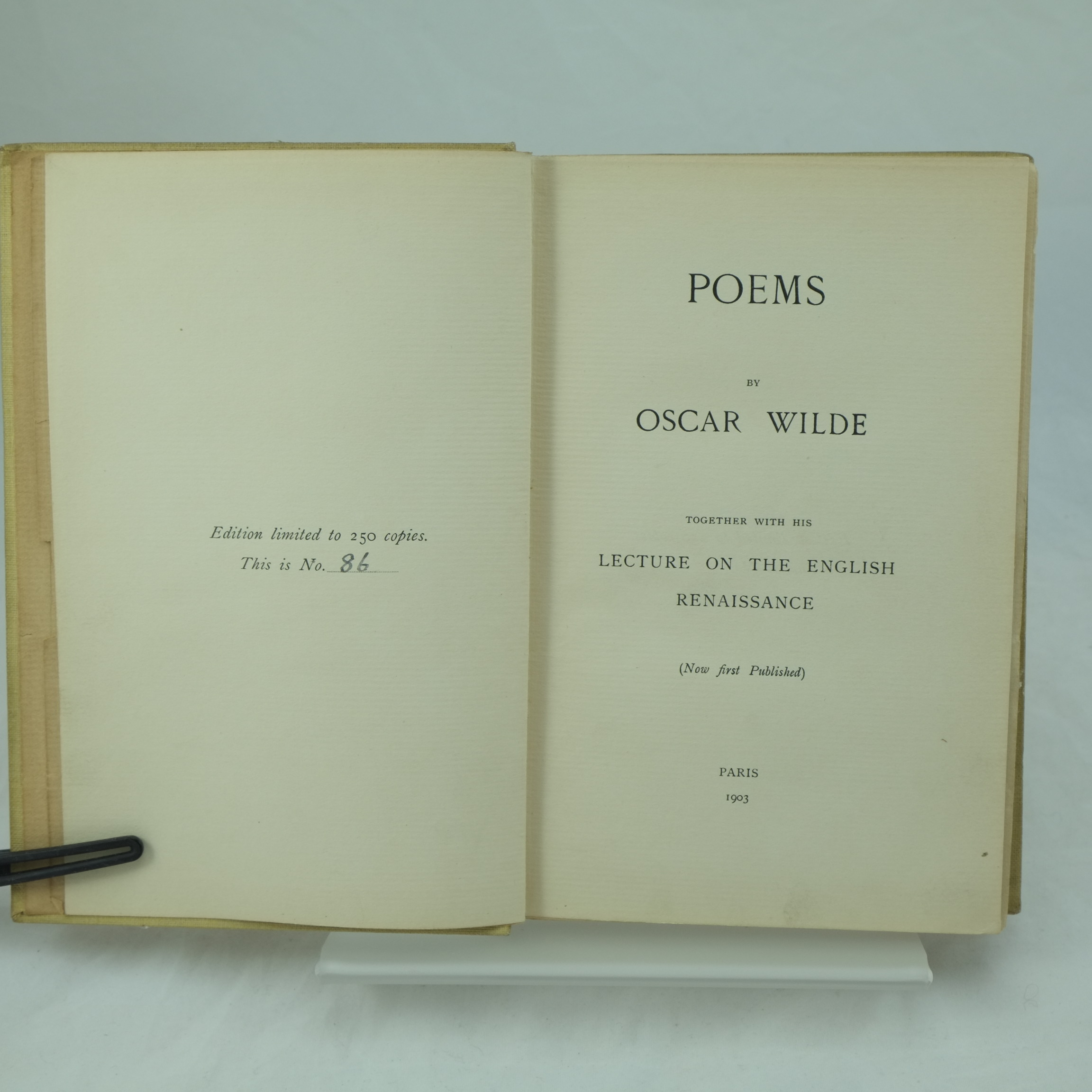 Poems By Oscar Wilde Limited Edition