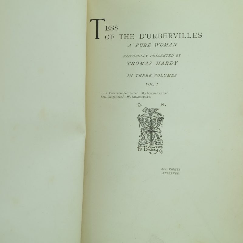 the research paper about tess of the durbervilles
