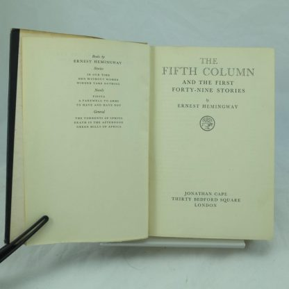 The Fifth Column and the Forty First Short Stories by Ernest Hemingway