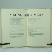 A Song for Simeon signed by T. S. Eliot