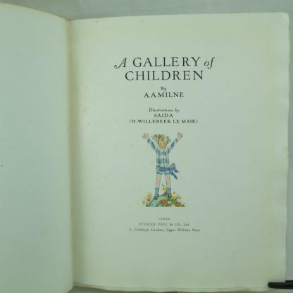 Signed limited ed of A Gallery of Children by A. A Milne