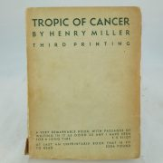 Tropic of Cancer by Henry Miller third printing