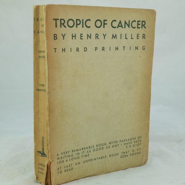 Tropic of Cancer by Henry Miller third printing (5)