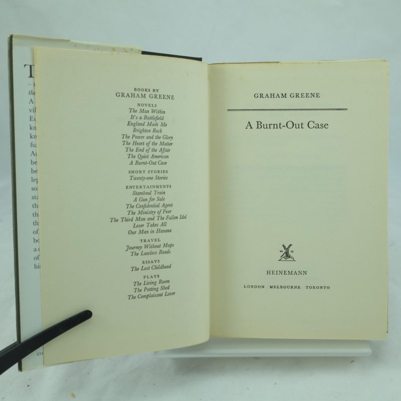 graham greene a burnt out case