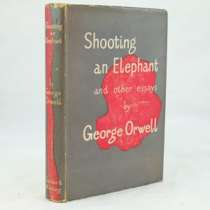 george orwell archives rare and antique books shooting an elephant by george orwell