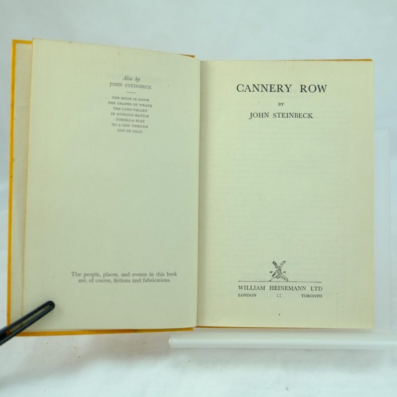 john steinbecks extraordinary writing style in the novel cannery row Great novel with wonderful characters that lived on cannery row in the 1930's john steinbeck was writing about real people he knew in monterey at the time.