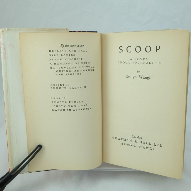 an analysis of scoop a book by evelyn waugh Don't analyze yourself give the relevant facts  the letters of evelyn waugh ( harmondsworth: penguin, 1982) p 423 the  now just you wait while i look up  these here books—how he said it—in my list  scoop (1938)[edit] while still a .