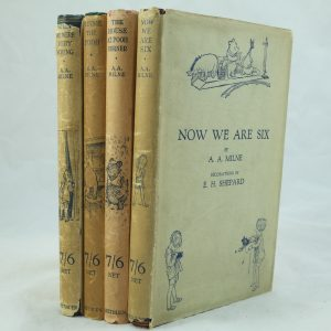A. A. Milne fine set of Winnie the Pooh first edition