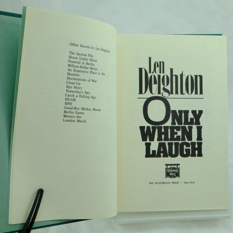 Design Len Berlin len deighton only when i laugh signed and antique books