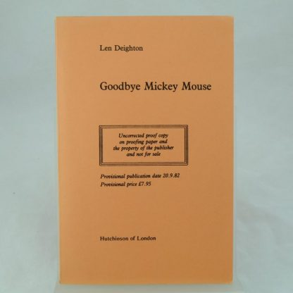 Uncorrected proof of Goodbye Mickey Mouse by Len Deighton (2)