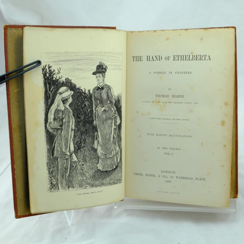 The Hand Of Ethelberta By Thomas Hardy Rare And Antique Books