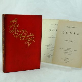 The Game of Logic by Lewis Carroll with card and envelope