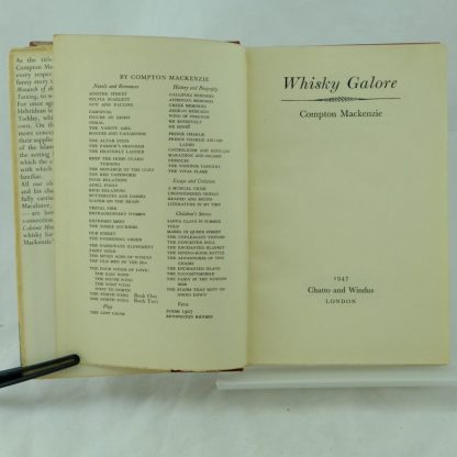 Whisky Galore by Compton Mackenzie