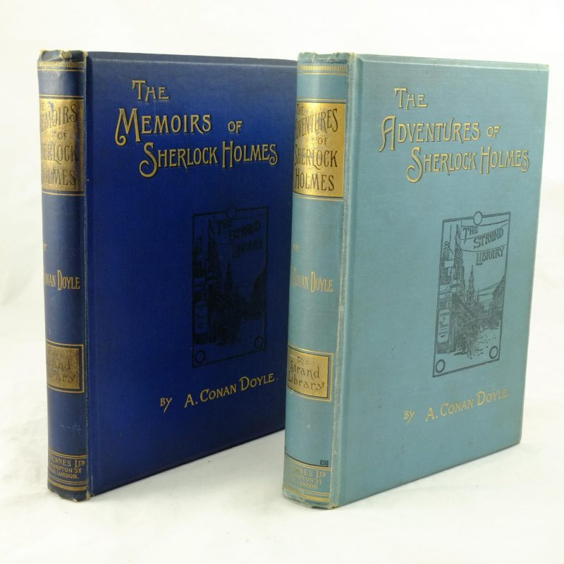 Adventures and Memoirs of Sherlock Holmes - A Conan Doyle first edition pair