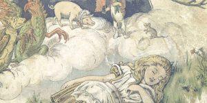 artwork of Alice In Wonderland sleeping