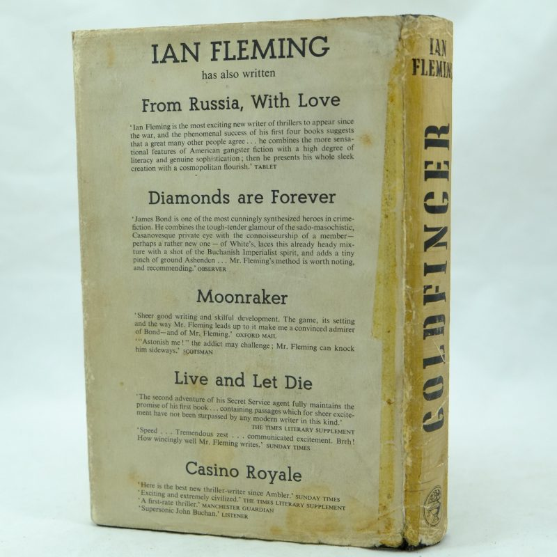 Goldfinger By Ian Fleming 1st Ed