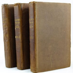 3 volumes of Oliver Twist by Boz Charles Dickens