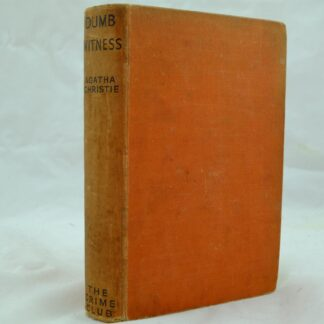 Dumb Witness by Agatha Christie 1st