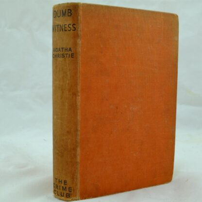 Dumb Witness by Agatha Christie 1st (1)